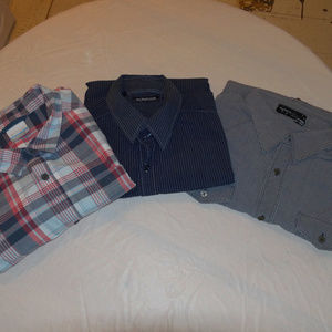Lot of 3 Men's XL Button Down Shirts Columbia...